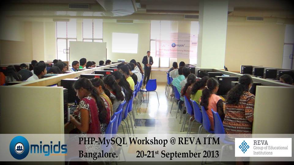Workshop By Migids Software at Reva IT, Bangalore [Topics:HTML, PHP, Wordpress, Joommla ]